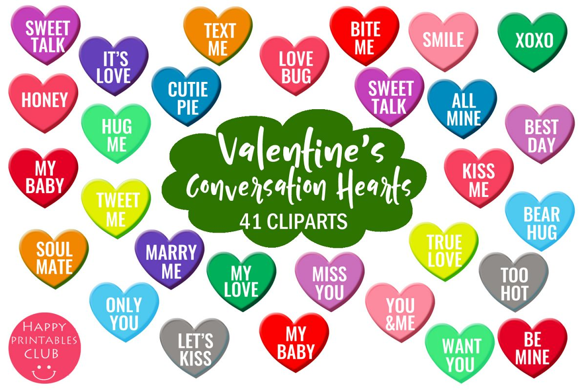 Valentine S Conversation Hearts Cliparts Love Hearts