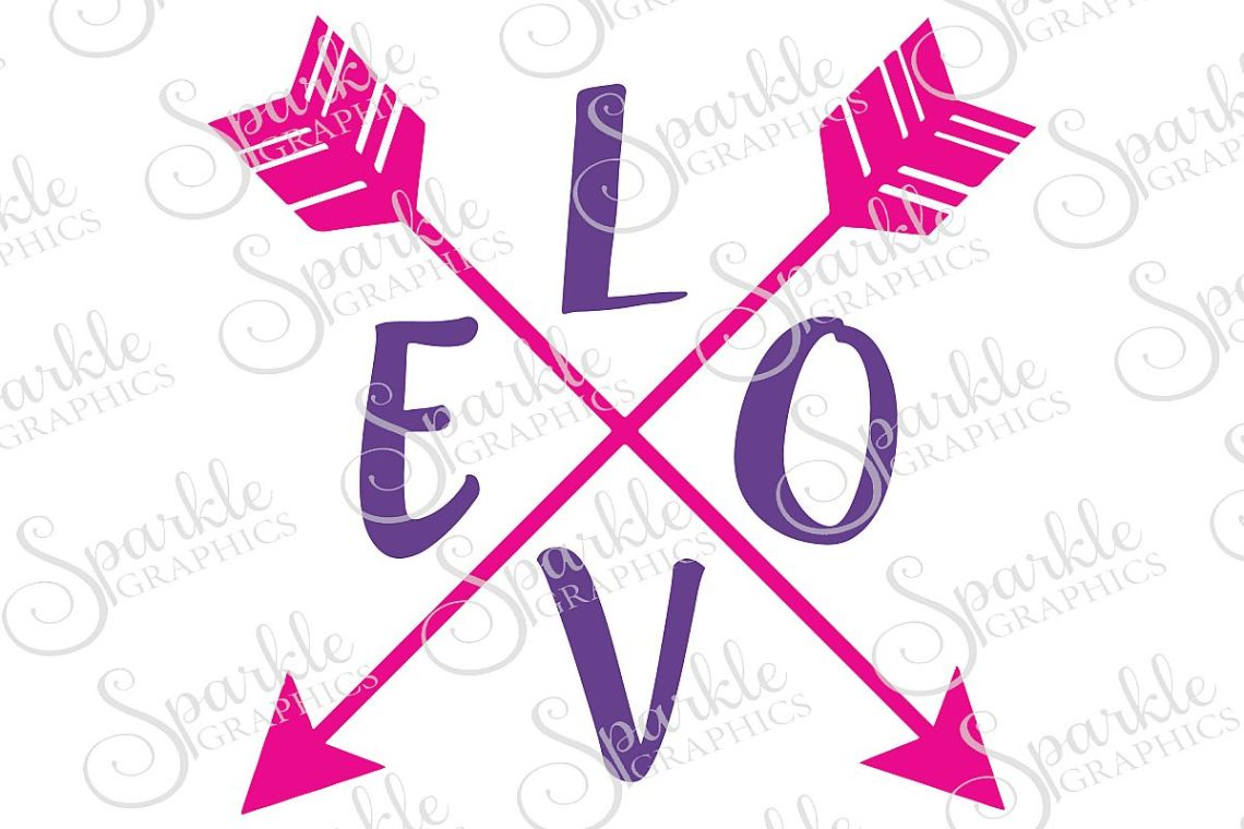 Download Love Arrow Cut File | SVG, EPS, DXF, PNG (50717) | SVGs ...