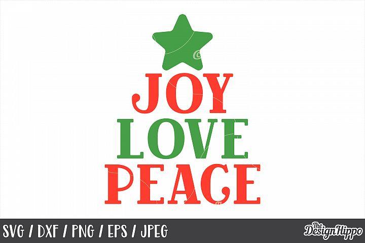 Download Joy Love Peace, Christmas, SVG, PNG, DXF, Cricut, Cut ...