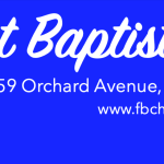 First Baptist Church Monthly Newsletter Header