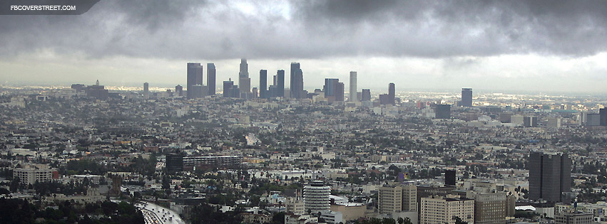 Los Angeles Facebook Pics Skyline White Cover And Black
