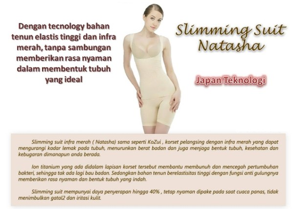 baju pelangsing natasha slimming suit