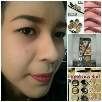 Lanbis eyebro & eyeliner gel alis 3in1