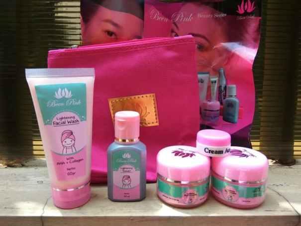 been pink paket acne baru