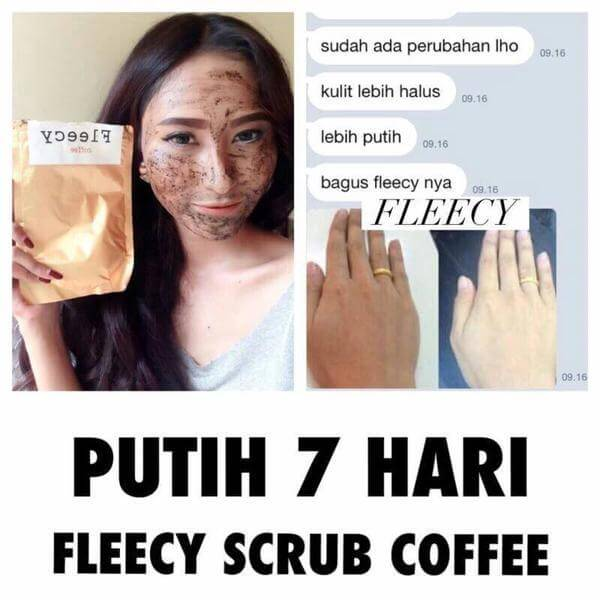 Kandungan Fleecy Coffee Scrub
