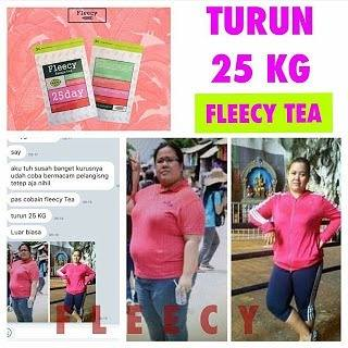 Fleecy Bangle Tea BPOM Teh Pelangsing Badan Aman
