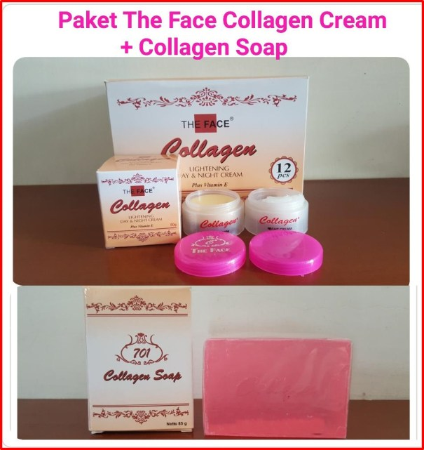 the face cream collagen lightening siang malam