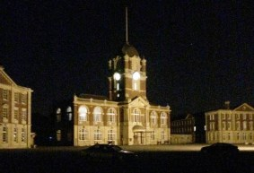 The beauty of New College at night.