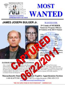 Whitey Bulger is of great public interest but Rico's only connection with him is that he arrested him for bank robbery and Bulger did about 15 years. Rico never operate him as an informant.