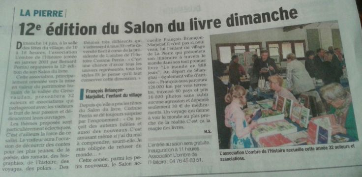 Dauphiné Libéré, Juin 2015