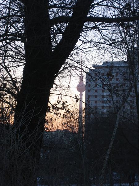 fernsehturm sunset