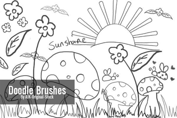 Doodle Brush Pack By AJK Original Stock On DeviantArt