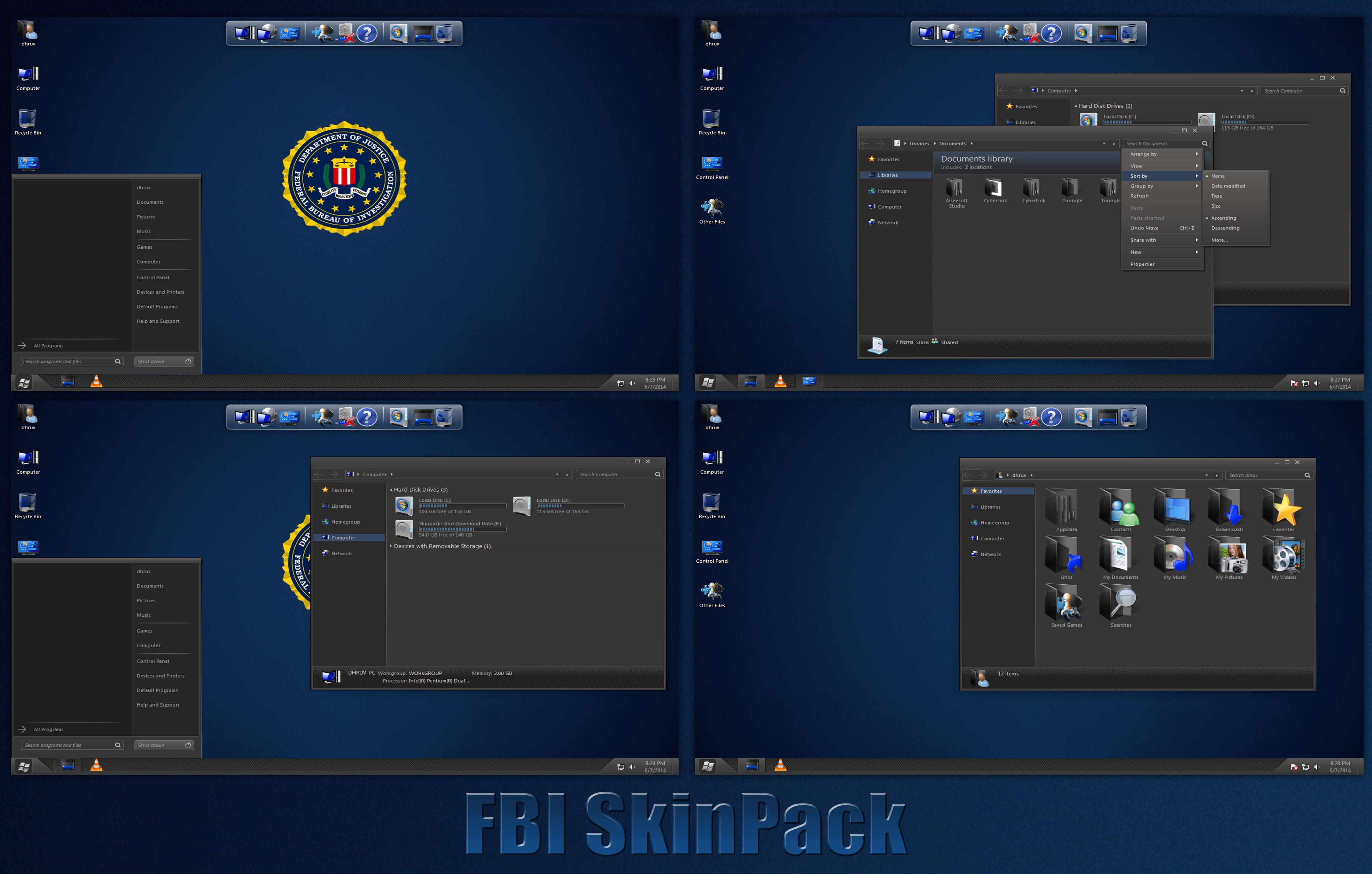 fbi skinpack for windows 788 1