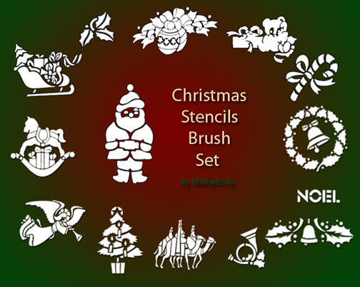 Christmas Brush Set