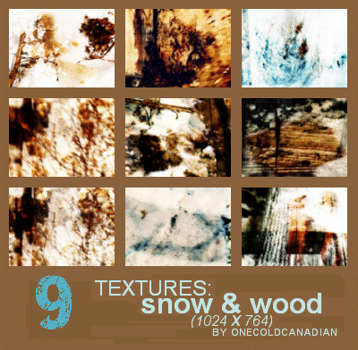 Textures - Snow and Wood