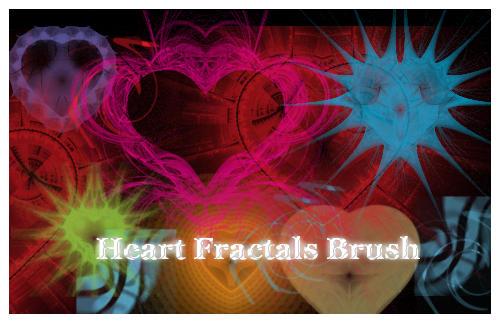 Pinceles para Photoshop de corazones fractales