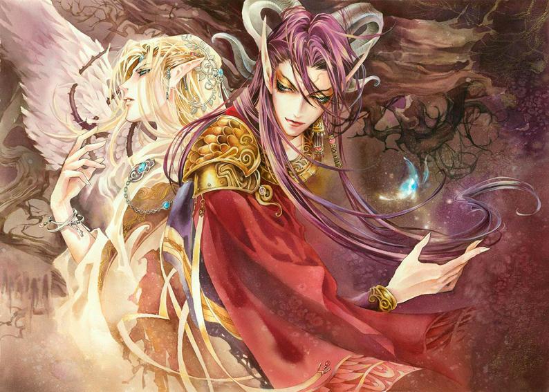 ilustración anime demonio