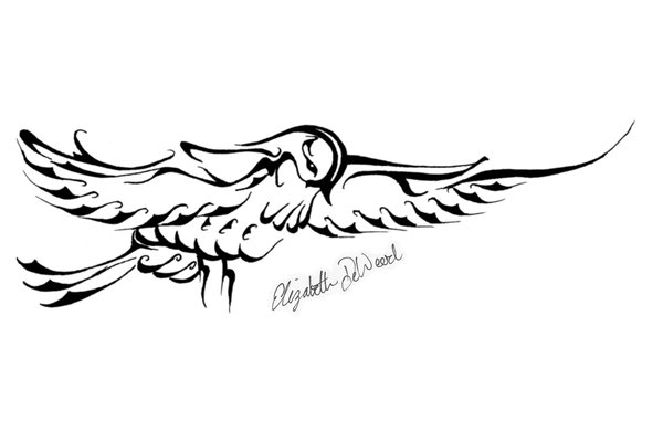 Tribal Swallow Design by