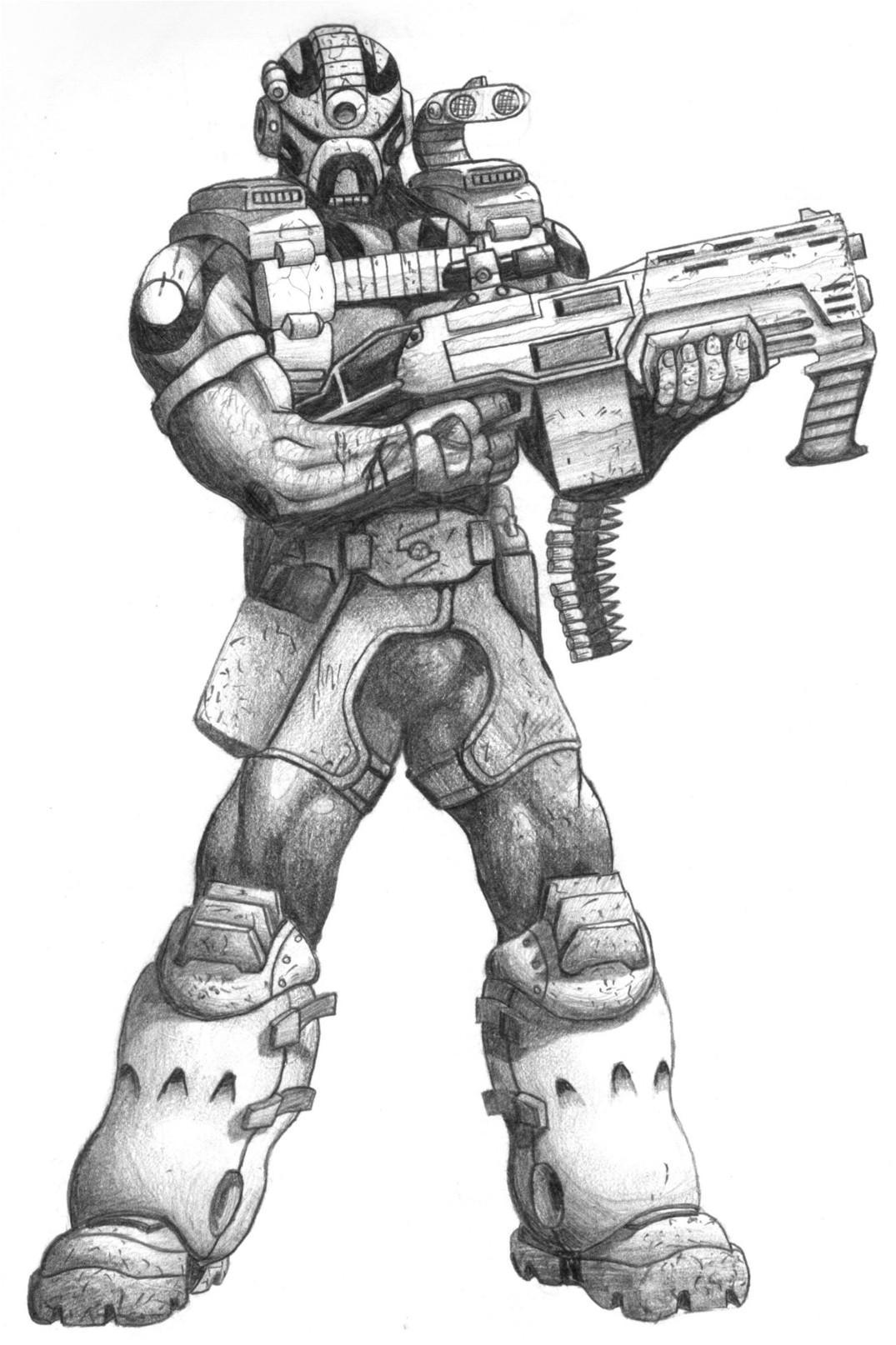 Fi Drawings Sci Male Robot