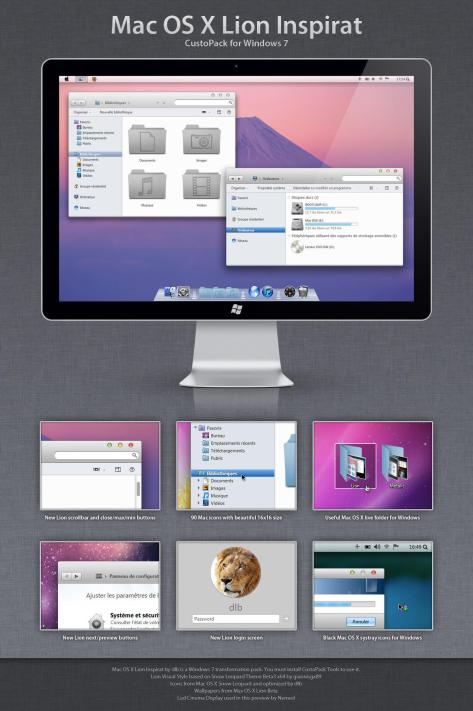 Mac OS X Lion Inspirat DP3 by David-PIERON
