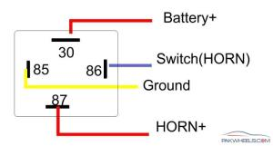 How to install Relay with Horn?  MechanicalElectrical