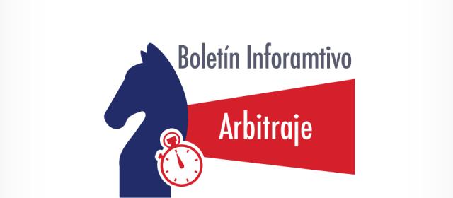 Arbitraje 1: Boletín Informativo marzo 2019