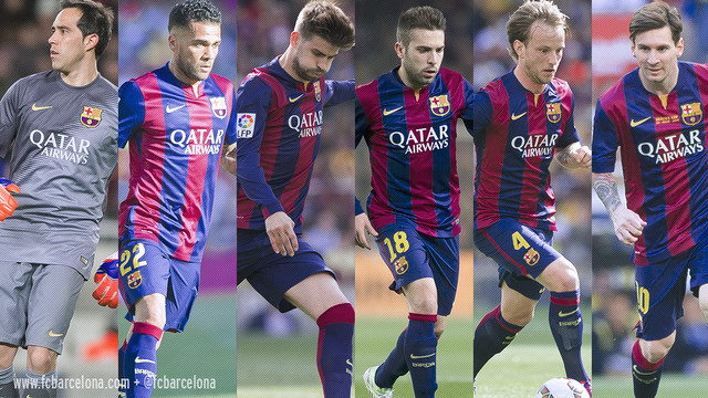 FC Barcelona land six players on all-league squad
