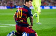 Lionel Messi threatens players