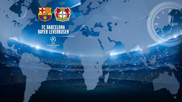 FC Barcelona vs Bayer Leverkusen time