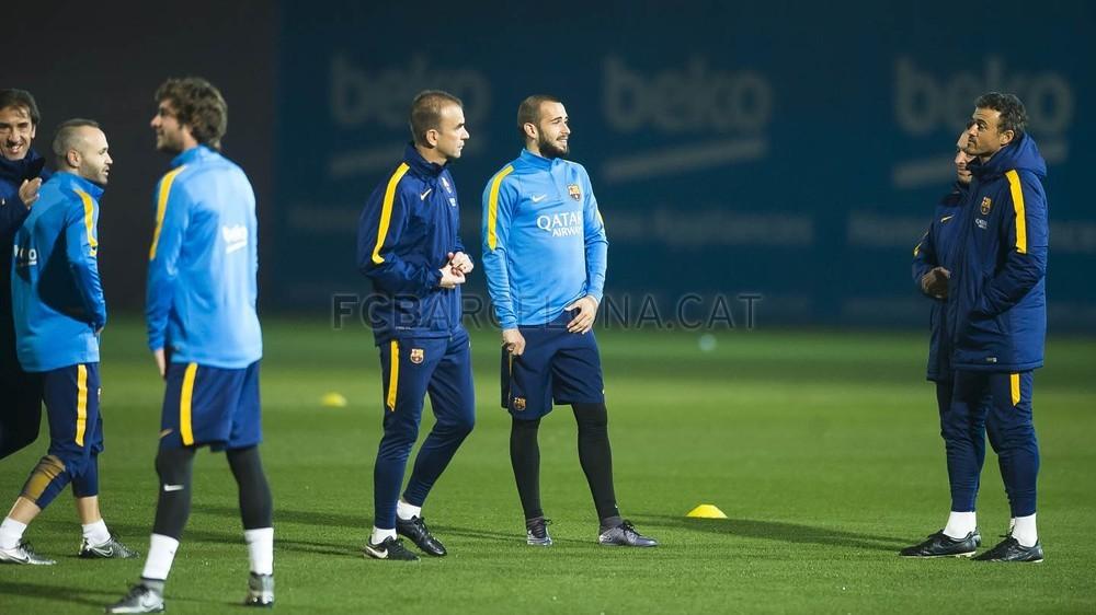 Last training session before entertaining Betis