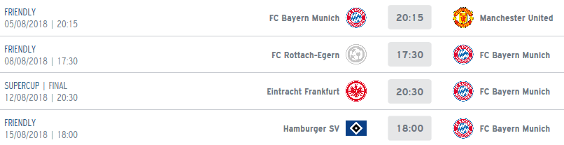 Calendrier Bayern.Calendrier Objectif Super Coupe D Allemagne Fcbayern Fr