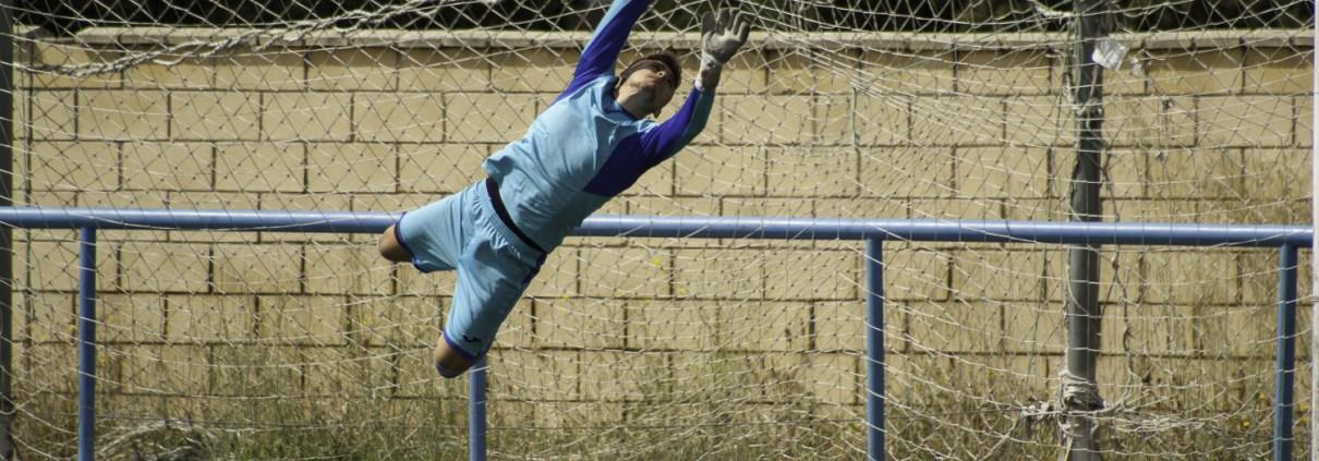 FCB goalkeeper Jorge Pires in action against Bar Castilla's in the Liga Bunwer Clausura 26-05-2018