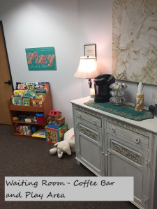 Waiting Room, Play Area and Coffee Bar at Full Circle Counseling In Dallas, TX