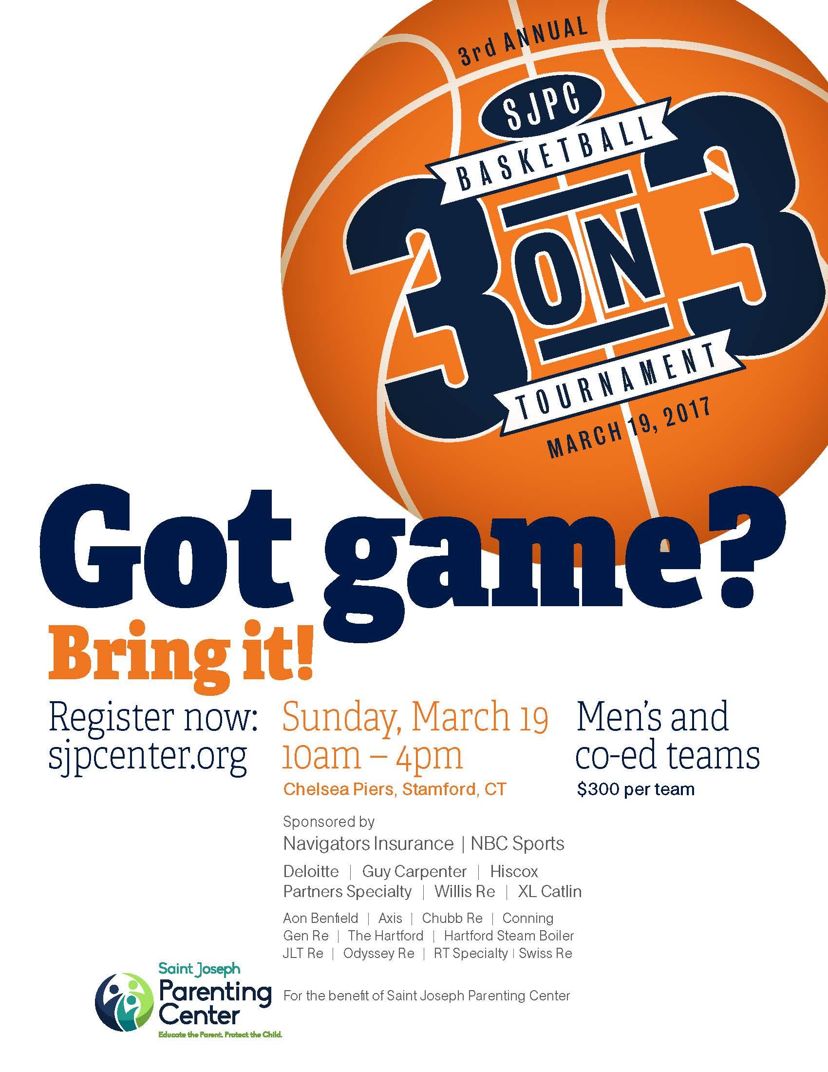 Saint Joseph Parenting Center 3 On 3 Hoops Tournament Fairfield Countys Community Foundation