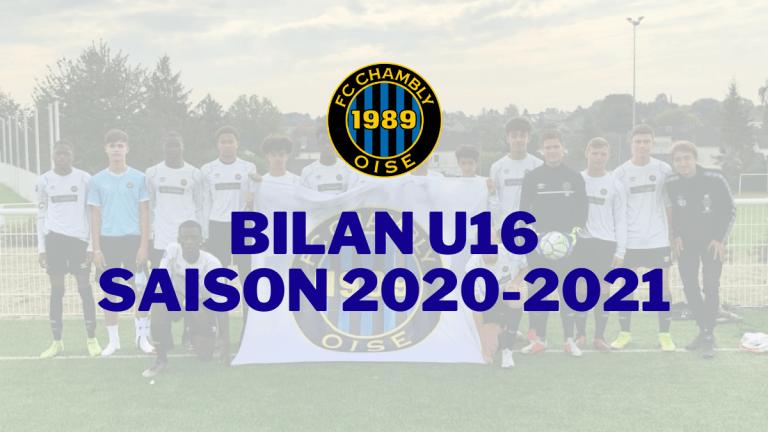 Saison 2020-2021 : Bilan U16