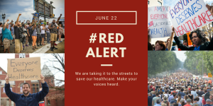 Red Alert Rally Poster