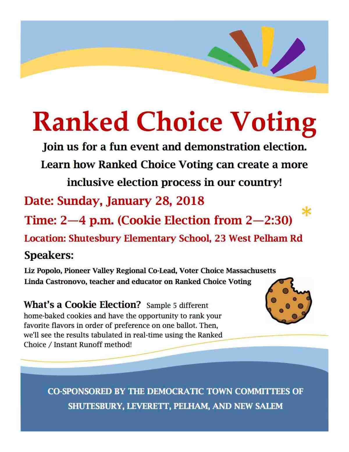 'Cookie Election' to Demonstrate Ranked Choice Voting
