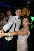 Senior Ashton Beck and her date James Higgins dance together at prom. Photo by Alaina King.