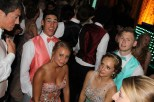 Senior Charlie Loveall and Logan Minzenberger dance with thier dates at prom. Photo by Alaina King.