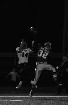 Junior Bradley Philpot almost intercepts the ball that was intended for BNL junior Austin Jovanovich.