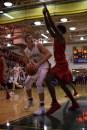 Senior Garrett Mehling works under the basket.