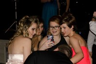 Juniors Lexi Richmer, Kayllee Daneil, Colleen Fitzgerald and freshman Desiree Freiberger selfie mid way through the military ball dance.