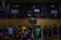 Students gather around for the senior circle.