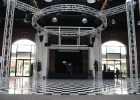 The black and white checkered dance floor of Kye's II where FC prom participants will soon be dancing. Photo by Kaitlyn Erdman.
