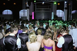 """FC prom participants do the """"Cupid shuffle"""" by Cupid. Photo by Shelby Pennington."""