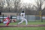 Senior Dalton Drexler hits a foul ball.