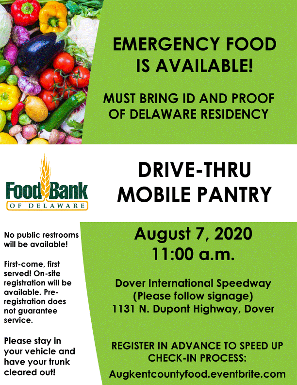 food bank of Delaware august 7th event flyer