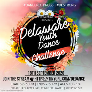 Delaware Youth Dance Challenge Poster, Sept 18, 2020 Event