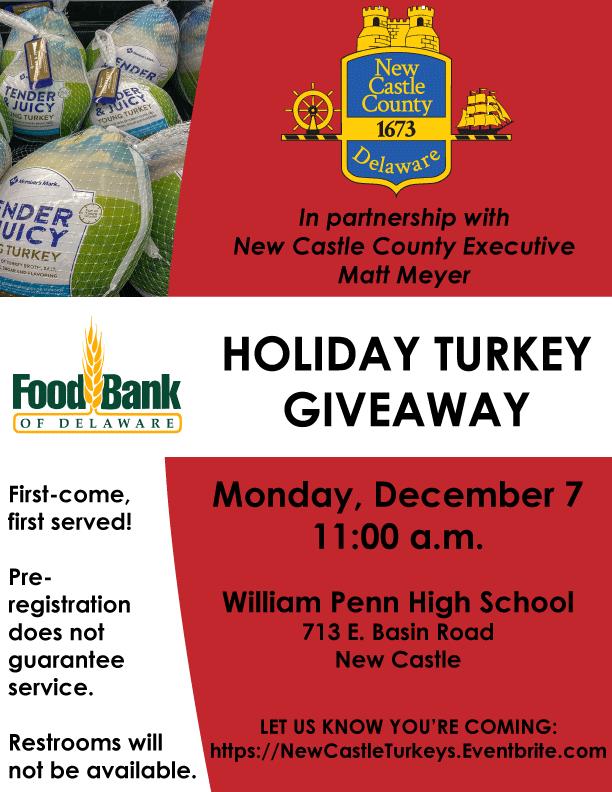 Foodbank Turkey Giveaway 2020-12 Poster