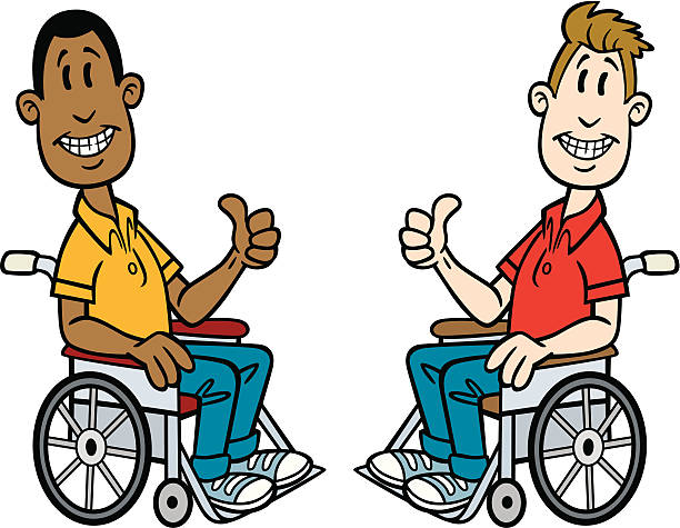 graphic - two men in wheelchairs